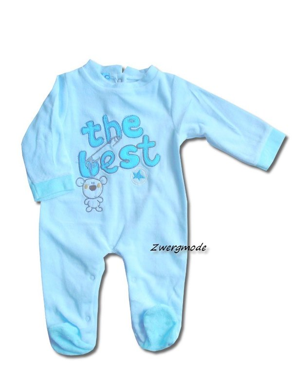 "Baby C - Strampler Overall Fleece blau ""the best"" Gr. 74 *NEU*"