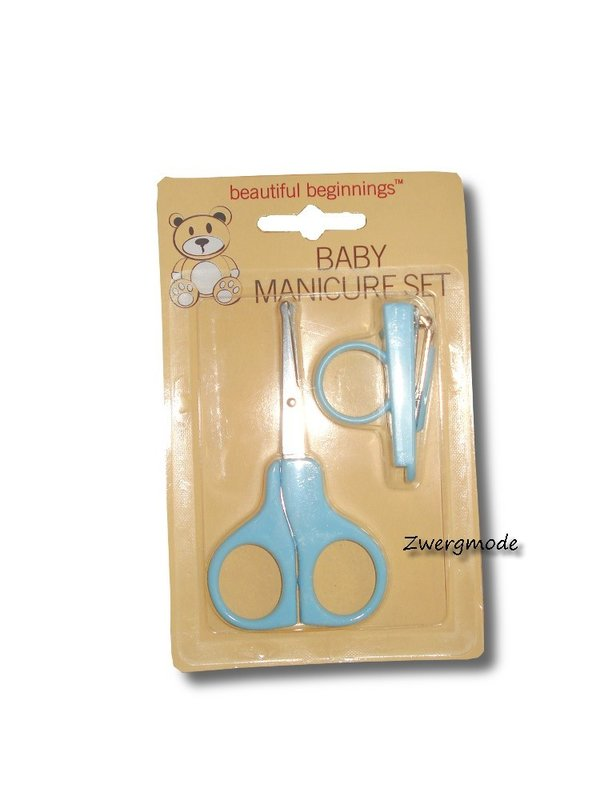 Beautiful Beginnings - Maniküreset Baby Schere Nagelknipser blau *NEU*