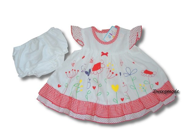 "Cutey Pie - 2 teiliges Set Outfit weiss rot ""Flowers"" Gr. 68/74 *NEU*"